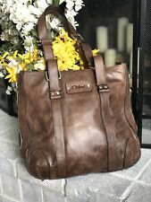 """Authenticated! Vintage Chloe """"Patsy"""" Calfskin Leather Purse Tote Bag See Descrip"""