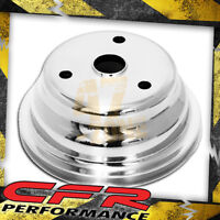 Chevy Small Block Aluminum Crank Pulley - 1 Groove (Long) Polished