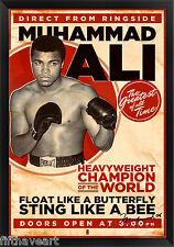 Vintage Mohammed Ali Custom Framed Print High Quality Display