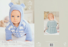 King Cole Baby Book Five Knitting Book Double Knitting Patterns Prem to 18 month