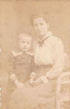 Portrat una madre con Bambino-bromo-ARGENTO-Detrazione del 1890-senza nome
