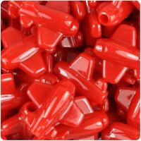 6 x 25mm Red Opaque Planes Shape Pony Beads ,IDEAL FOR DUMMY CLIPS