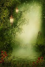 Green Magic Forest Vinyl photography background Photo Backdrop 5x7ft  HOT