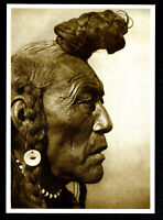 ⫸ 998 Postcard Bear Bull, Blackfoot - 1926 Photo, Edward Curtis – NEW