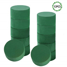 12 Pcs Wet Floral Foam Round Flower Arrangement Kit Green Foam Block Wedding New