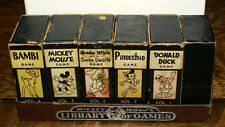 Antique Disney Mickey Mouse Library of Games * Donald Duck Bambi Pinocchio +