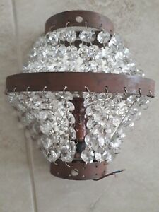 French Empire Style Wall Sconce Light crystals