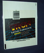 1981 Walt Disney Prod. TRON Card Wrapper