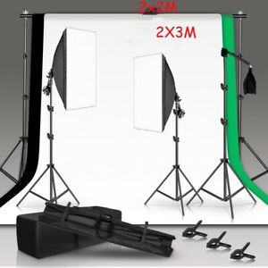 Studio Heavy-Duty Backdrop Screen Stand KIT Photo Background Support System Set