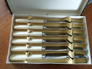 Viners Ltd Super Stainless Tea/ Butter Knives Set Of 6 Original Box