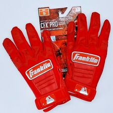 Franklin Sports CFX Pro Chrome Series Batting Gloves Red Adult Small. New.
