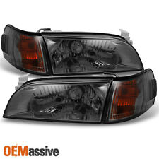 Fits 93-97 Corolla JDM Version JDM Smoke Headlights + Amber Corner Signal Lamps