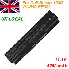 6 Cell Laptop Battery for Dell PP33L PP39L WU946 Studio 1535 1536 1537 1555 1557