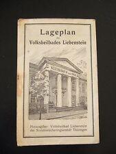 alter Lageplan des Volksheilbades Liebenstein von 1949