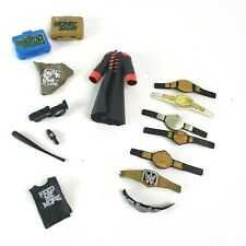 Lot WWE WWF Wrestling Championship Accessories Belts clothes money bank case
