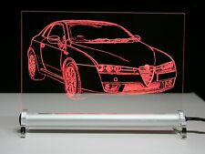 LED-Leuchtschild  mit    Alfa Romeo Brera   als  AutoGravur