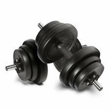 Adjustable Dumbbells set 20kg free Weight weights Barbell sets bars men dumbells