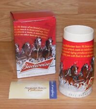 Genuine Budweiser 2013 Sights of the Season Holiday Beer Stein With box **READ**