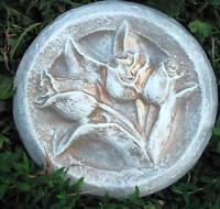 Tulip plaque plastic mold concrete plaster mould