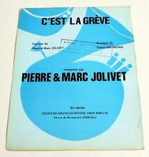 Partition vintage sheet music DANIEL BALAVOINE / PIERRE MARC JOLIVET *70's Promo