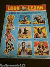 LOOK and LEARN # 184 - COSTUME QUIZ - JULY 24 1965