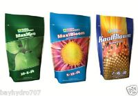 GENERAL HYDROPONICS MaxiGRO MaxiBLOOM KoolBLOOM  DRY POWDER TRIO OF 2.2lb OR 4.4
