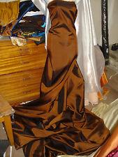 """2M Due Tonalità Rame Colorato TAFFETA Fabric 58 """"Wide"""