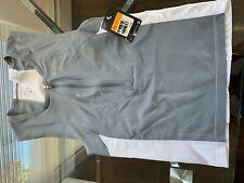 Nike 712743 Mens Triathlon Swim Top Tri Aero Tank Shirt Grey White S $76
