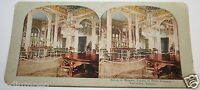 Original Antique 1900's Salon Of Mirrors Palace Petit Trianon France Stereoview