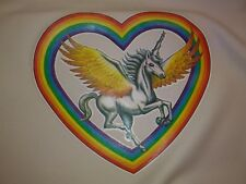 "Vintage Rare ""Unicorn Rainbow "" Iron-On Transfer Full color"