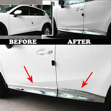 FIT FOR 12-16 MAZDA CX-5 CX5 CHROME SIDE DOOR MOLDING GARNISH TRIM ACCENT COVER