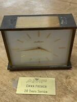 Vintage Alfry Heavy Brass AMF Retirement Swiss Mantle Clock Vintage