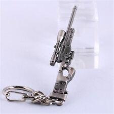 Sniper rifle AWP Keychain Model Mini Weapon Gun Metal Keyring Key Ring Chain ♫