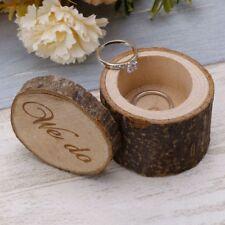 JQ/_ Rustic Wedding Lettering Rings Bearer Box Case Holder Jewelry Display Myst