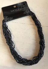 "Mood By Jon Richard 16"" Black Multi Layered Tiny Beaded Necklace RRP£12 (A593)"