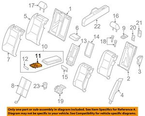 AUDI OEM 07-15 Q7 Rear Seat-Cup Holder 8P0885995B6PS