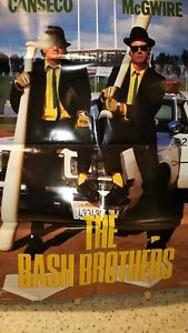 Vintage Jose Canseco Mark McGwire The Bash Brothers Poster 1988 Baseball
