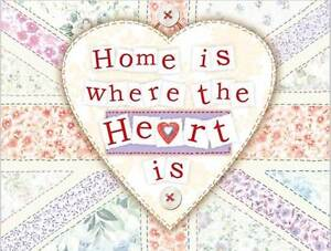 Home is where the Heart is, Kitchen Home British Gift, Novelty Fridge Magnet