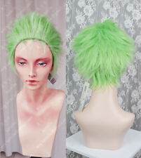 One Piece Roronoa Zoro Short Anime Cosplay Costume Wig + Free CAP+Track