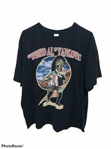 Vintage Weird Al Yankovic Yankosaurus T Rex Dinosaur T-Shirt Black Size 2XL