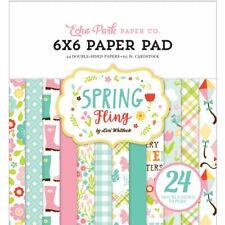 Echo Park Paper SPRING FLING 6x6 Scrapbook Paper Cardstock Pad