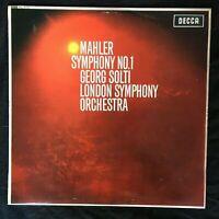 "RARE Mahler: Symphony no. 1 Georg Solti 12"" VINYL LP Decca ED3 Wideband SXL6113"