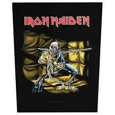 XLG Iron Maiden Piece of Mind Rock Music Woven Back Jacket Patch Applique