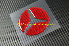 For 13~18 Mercedes A 45 AMG 250 200 180 W176 Red Carbon Fiber Trunk Emblem Decal