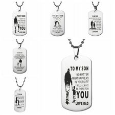To My Son Dog Tag Necklace Personalized Mom Son Pendant Unisex Christmas Gifts