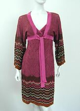 MISSONI 2 PIECE SET ENSEMBLE Sz 8 SEXY T BACK  JACKET DRESS KNITTED BELL SLEEVE