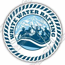 "Rafting  River Raft Mountain Whitewater Car Bumper Vinyl Sticker Decal 4.6"""