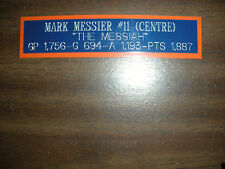MARK MESSIER NAMEPLATE FOR AUTOGRAPHED PUCK/JERSEY CASE/PHOTO