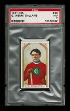 PSA 7 HENRI DALLAIRE 1911 Imperial Tobacco C55 Hockey Card #39 NICE