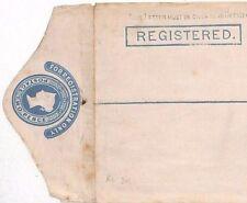 Al84 Gb Qv 2d Blue Postal Stationery 1877 Registered Envelope {samwells-covers}